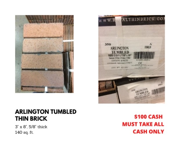 Arlington Tumbled Thin Brick